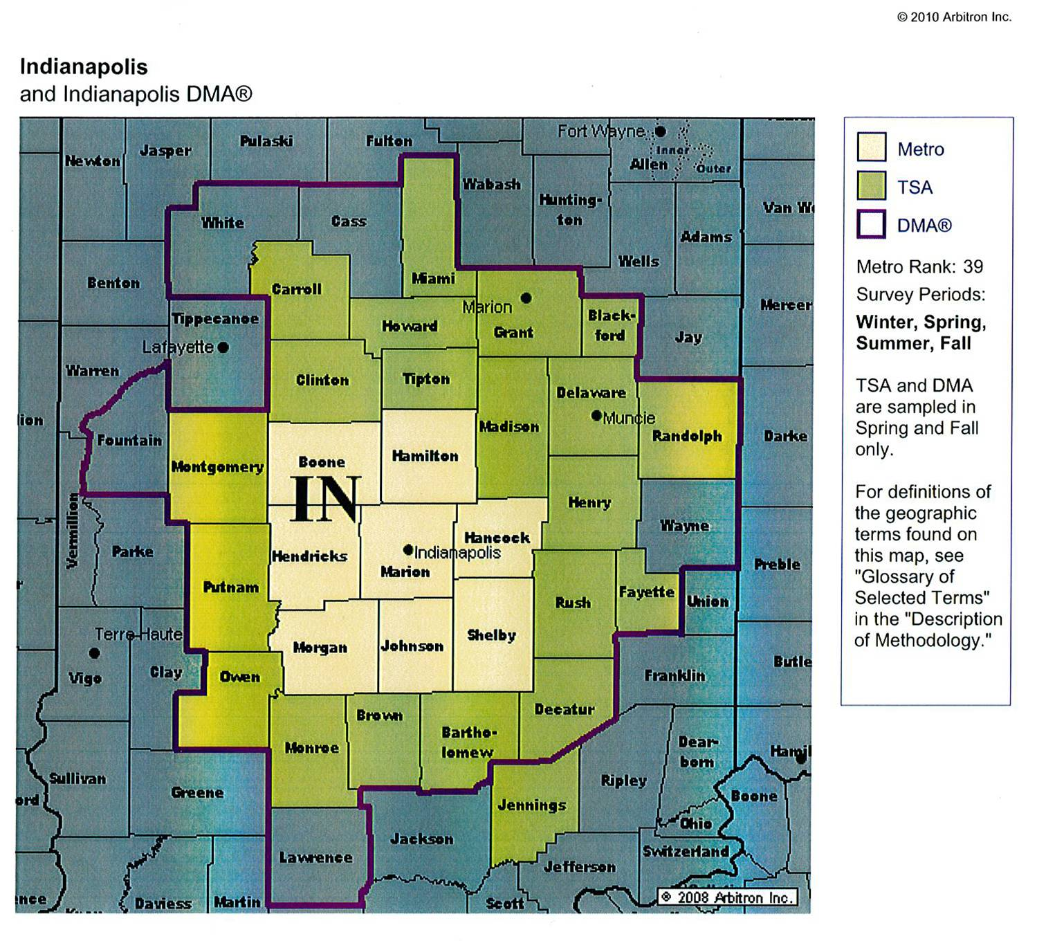 MetroDMA Map  Radio Indiana