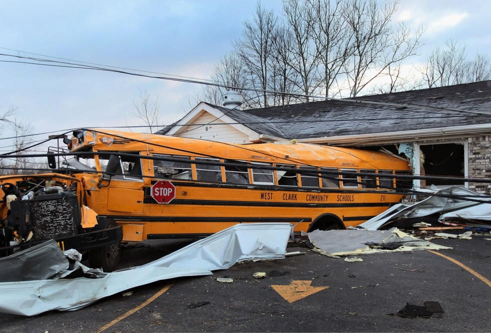 Devastation blankets Henryville, Ind. after tornado outbreak.