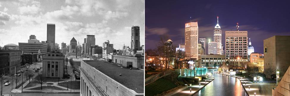 Indy Skyline: Then and Now
