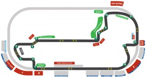 The Grand Prix of Indianapolis official track map