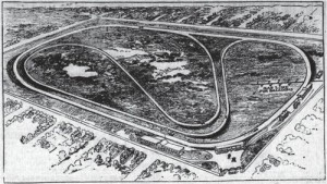 A view of the proposed layout for the Indianapolis Motor Speedway from early 1909