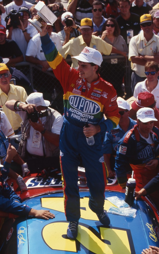 1994 Winner Jeff Gordon in Victory Lane