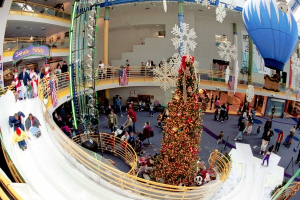 The Children's Museum 2-story Yule Slide is a highlight of Indy holiday fun.