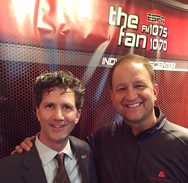 John Griffin with 107.5/1070 THE FAN's Dan Dakich