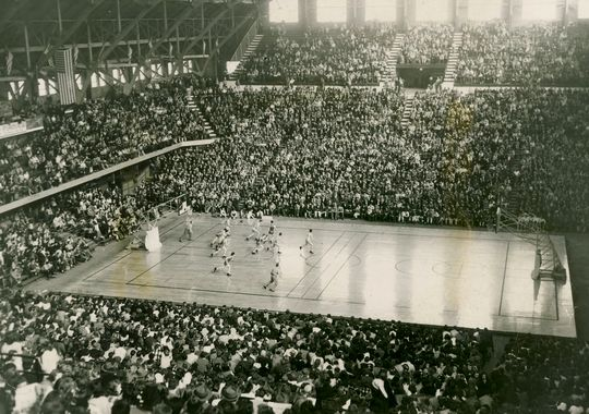 Historic Hinkle Fieldhouse is a true basketball cathedral.