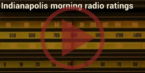 Radio dial with play button