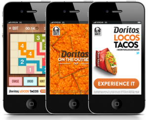 Mobile Intersticials capture the entire screen on your mobile device, using aps.