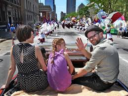 Josh Kaufman served as grand marshal of the 500Festival Parade in 2014.
