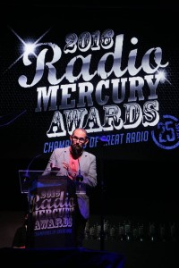 Chris Smith, Brand Creative Group Head for The Richards Group and the 2016 Radio Mercury Awards Chief Judge, speaks in New York on June 2, 2016