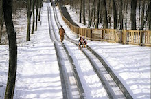 sled-tracks-down-snow