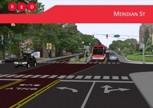 Sketch of how the Red Line will look throughout city streets