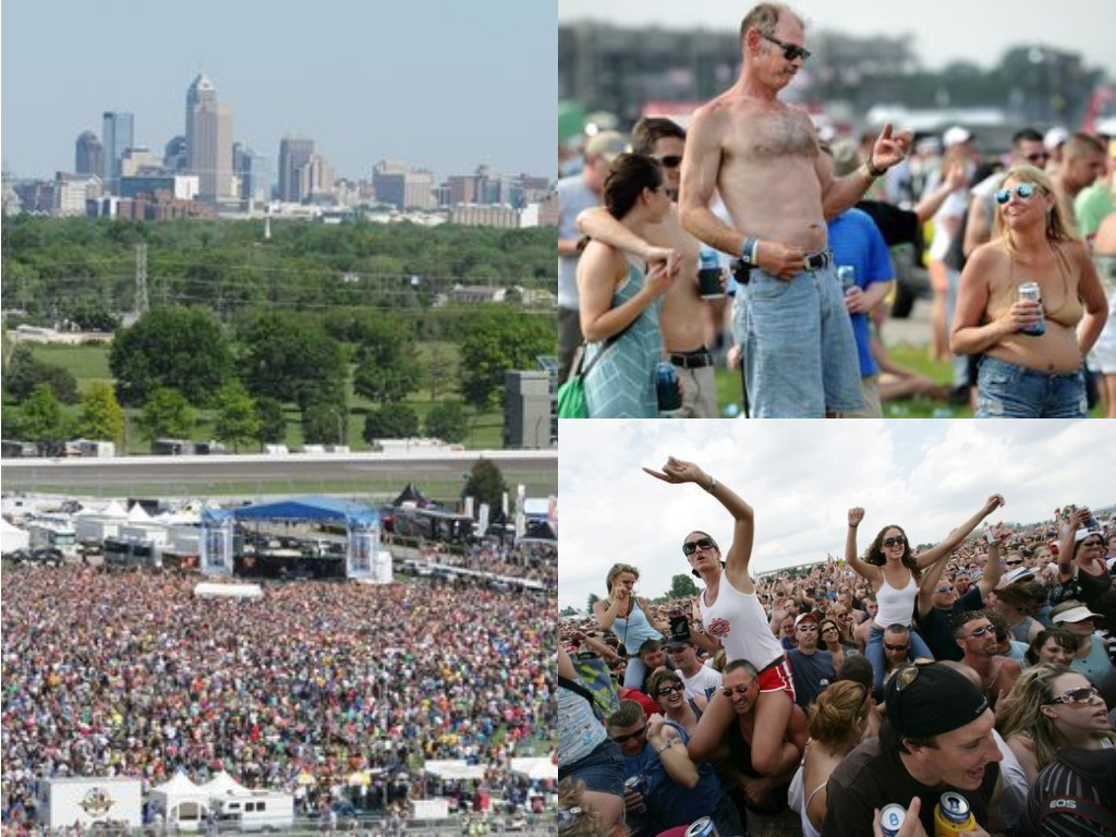 Carb Day concert crowd
