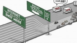 CARTOON net-neutrality-highway image