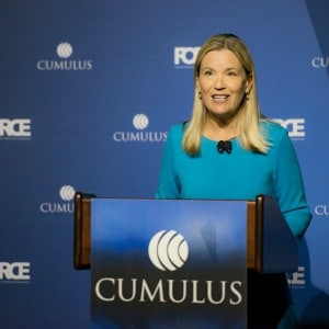Cumulus CEO Mary Berner's company also recently filed bankruptcy.
